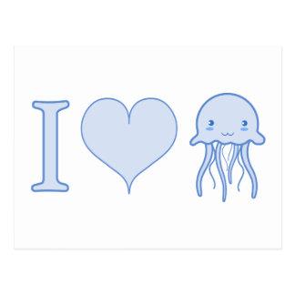 I Heart Jellyfish Postcard