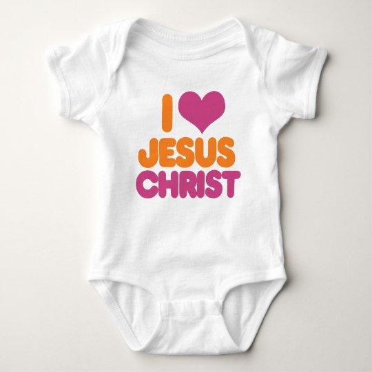 I Heart Jesus Christ Baby Bodysuit