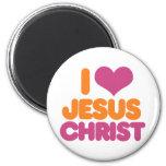 I Heart Jesus Christ Refrigerator Magnets