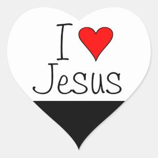 I heart Jesus Heart Sticker