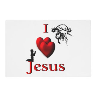 I Heart Jesus Placemat