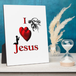 I Heart Jesus Plaque