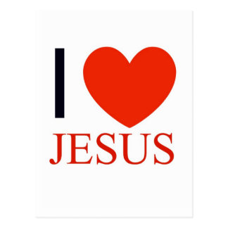 I Heart Jesus Postcard