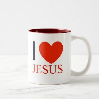 I Heart Jesus Two-Tone Coffee Mug