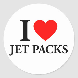 I Heart Jet Packs Stickers