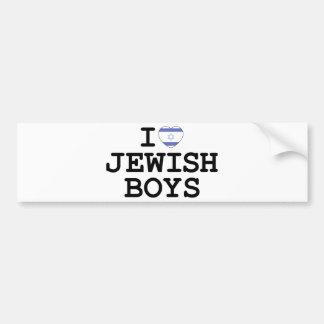 I Heart Jewish Boys Bumper Sticker