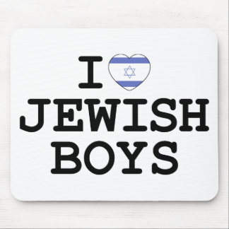 I Heart Jewish Boys Mouse Pads