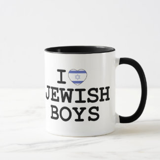 I Heart Jewish Boys Mug