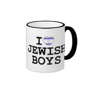 I Heart Jewish Boys Ringer Coffee Mug