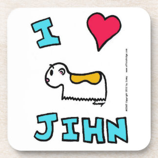I Heart Jihn Coasters - Set of 6