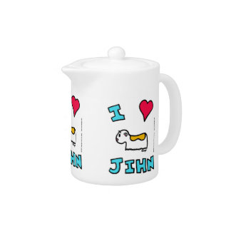 I Heart Jihn Teapot