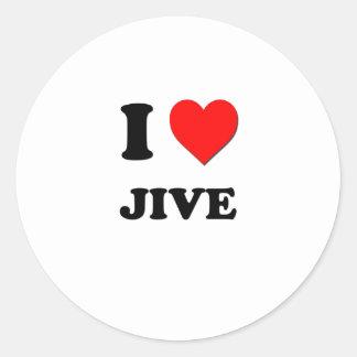 I Heart Jive Classic Round Sticker