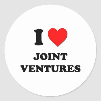 I Heart Joint Ventures Round Stickers