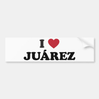 I Heart Juarez Mexico Bumper Sticker