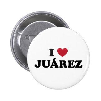 I Heart Juarez Mexico Pinback Button