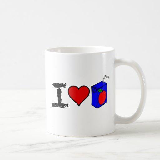I Heart Juice Boxes Coffee Mugs