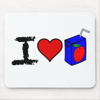 I Heart Juice Boxes Mouse Pad