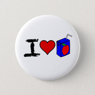 I Heart Juice Boxes Pinback Button