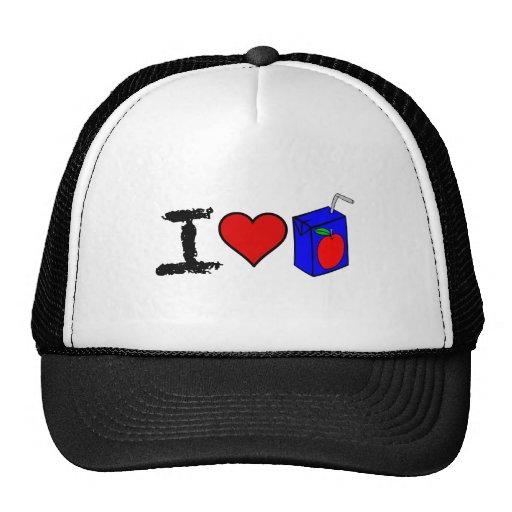 I Heart Juice Boxes Trucker Hat