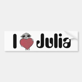 I Heart Julia Alien Bumper Sticker
