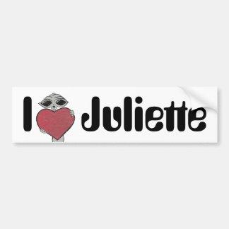 I Heart Juliette Alien Bumper Sticker