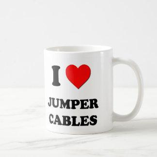 I Heart Jumper Cables Coffee Mug