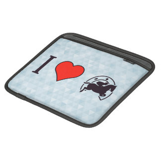 I Heart Jumping Horses Sleeves For iPads