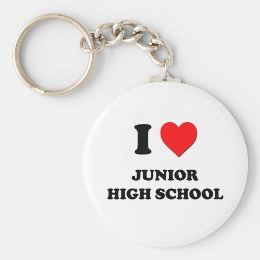 I Heart Junior High School Key Chain
