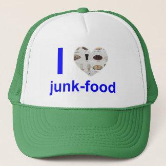 i heart junk-food trucker hat