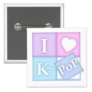 I Heart K~Pop Button
