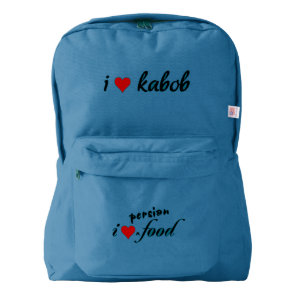 I heart kabob I love kabob American Apparel™ Backpack