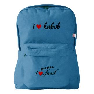 I heart kabob I love kabob American Apparel™ Backpack