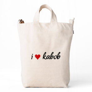 I heart kabob I love kabob Duck Bag