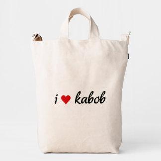 I heart kabob I love kabob Duck Canvas Bag
