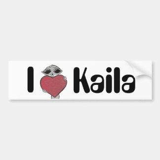 I Heart Kaila Alien Bumper Sticker
