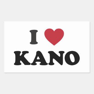 I Heart Kano Nigeria Rectangular Sticker