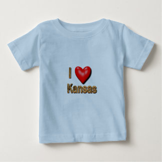 I Heart Kansas Baby T-Shirt