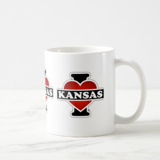 I Heart Kansas Coffee Mug