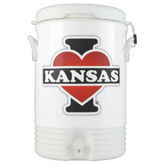 I Heart Kansas Cooler
