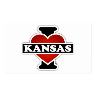 I Heart Kansas Double-Sided Standard Business Cards (Pack Of 100)
