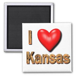 I Heart Kansas Fridge Magnet