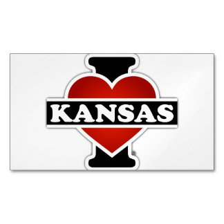 I Heart Kansas Magnetic Business Cards (Pack Of 25)