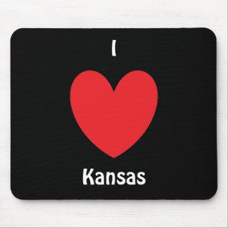 I Heart Kansas Mousepad