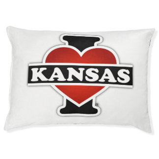 I Heart Kansas Pet Bed