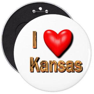 I Heart Kansas Pinback Button