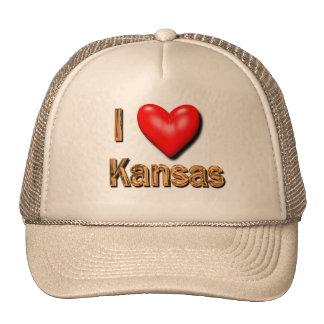 I Heart Kansas Trucker Hat