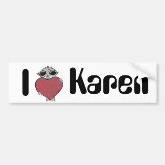 I Heart Karen Alien Bumper Sticker