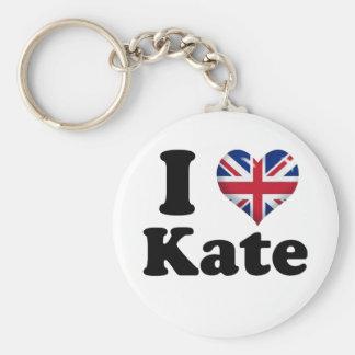 I Heart Kate Basic Round Button Keychain