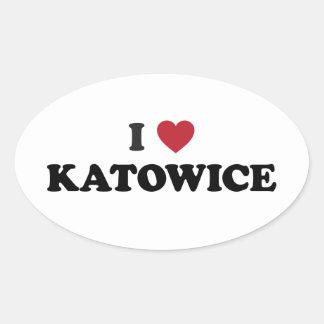 I Heart Katowice Poland Sticker
