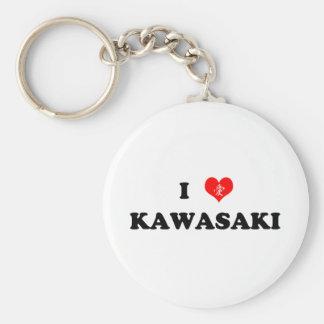 I Heart Kawasaki Keychain